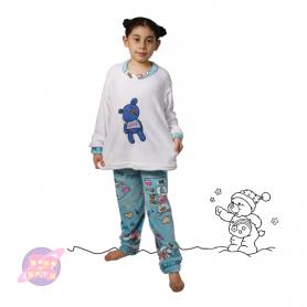 pijama niña, pijama oso