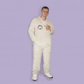 Pijama Peluche Bordada De Caballero